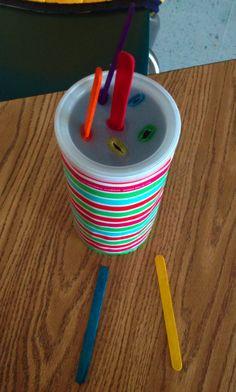 Popsicle Stick Push  Autism, Child Development, BIA, Fine Motor, TEACHH