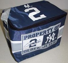 New York Yankees Derek Jeter MLB Insulated Lunch Cooler Bag Quantity of 1 ** You can find more details by visiting the image link.