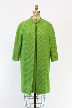 60s Eve Le Coq Set Small / 1960s Bright Green Wool by CrushVintage