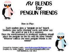 /R/ Blends for Penguin Friends FREEBIE - Pinned by @PediaStaff – Please Visit http://ht.ly/63sNt for all our pediatric therapy pins