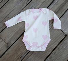 555912eae4 SALE baby onesie in pink heart baby girl onesie by BabyQsDesign