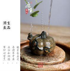 Free shipping small handmade Yixing tea tea tea pet play sculpture fountain ornaments accessories wholesale watermelon gourd