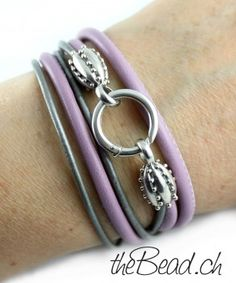 wrap leather bracelet FLIRT with 925 sterling silver