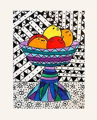 Pattern and contrast still life. Could work for my Britto 5th grade still life