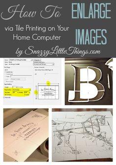 Tile Printing Tutorial (for Enlarging Images