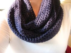 Navy Blue Crochet Infinity Scarf,  This chick makes the best scarves. I don't buy mine anywhere else!