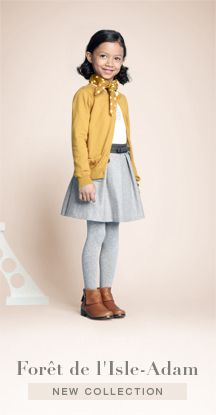 """I want to buy everything at Jacadi for Elsie.  (This is one of their back to school outfits, """"Forêt de l'Isle Adam."""")"""
