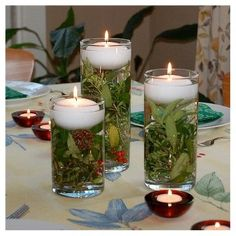 12ct Floating Candles White Extra Large - Lumabase