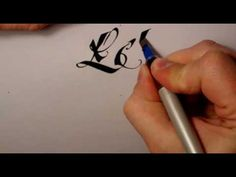 Got to get me one of these Pilot Parallel Pens! Calligraphy Video, Calligraphy Tutorial, Calligraphy Words, Penmanship, Scripture Lettering, Typography Letters, Typography Logo, Typography Design, Types Of Lettering