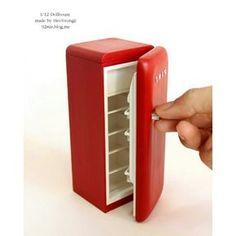 이건 정확히 1/12 맞춰서 완성 :) #dollhouse #miniature #smeg #빨강#스메그#냉장고#여자의로망