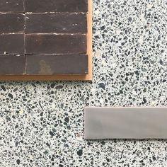 Ocean & Merchant's Padovan Galapagos Honed Alaska Camo and Moroccan Aniseed Concept Board, Wall Tiles, Ocean, Stone, Mood Boards, Alaska, Moroccan, Camo, Home Decor