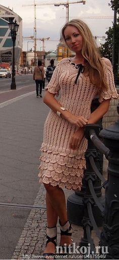 Круглая ананасовая кокетка. (Платье) - Платье.Сарафан
