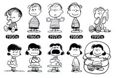 The evolution of Lucy and Linus.  illustrated by Charles Schulz :: scanned from The Peanuts Collection :: Little, Brown and Company :: 2010