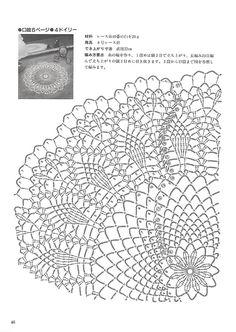 """Photo from album """"Kyoko Kawashima - Beautiful Crochet Lace on Yandex. Crochet Doily Diagram, Crochet Doily Patterns, Crochet Chart, Crochet Motif, Crochet Doilies, Crochet Coaster, Crochet Cross, Crochet Home, Thread Crochet"""