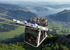 Salire ai 1900 m. dello Stanserhorn con il vento tra i capelli, in Svizzera