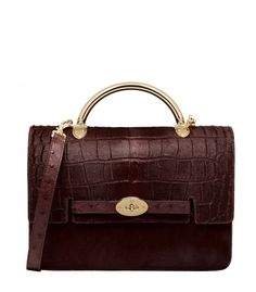 Mulberry Large Bayswater Shoulder in Oxblood Printed & Plain Hair Calf Mix – #ShopBAZAAR