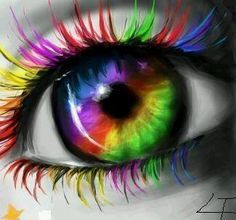 51 Ideas Eye Iris Art Beautiful For 2019 Pretty Eyes, Cool Eyes, Beautiful Eyes, Taste The Rainbow, Over The Rainbow, Rainbow Eyes, Rainbow Colors, World Of Color, Color Of Life