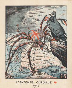L'Entente Cordiale, 1915 L´ Entente Cordiale fue un acuerdo diplomático firmado en 1904 por Francia y Gran Bretaña, que resolvía las disputas coloniales entre los dos países, y allanaba el camino para la cooperación anglo-francesa ante el expansionismo europeo y colonial alemán.