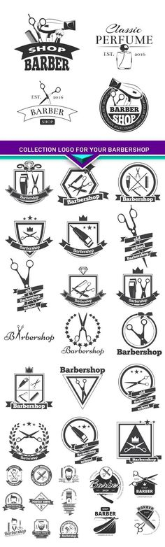 Collection logo for your barbershop..good idea to use on business cards