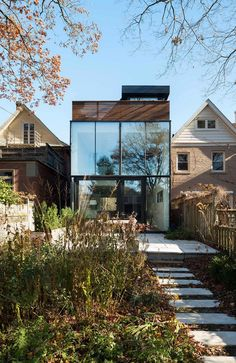 Architecture › Vintage-Edwardian Building Tastefully Upgraded Into Modern Home by Johnson Chou Inc Residential Architecture, Contemporary Architecture, Interior Architecture, Contemporary Homes, Toronto Houses, Design Exterior, House Extensions, Building A House, House Design