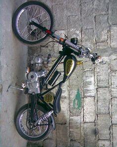 cub Mini Chopper, Chopper Bike, Bobber Motorcycle, Moto Bike, Custom Street Bikes, Custom Bikes, Cubs Store, Motorised Bike, Bike Details