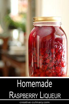 Raspberry Drink, Raspberry Liqueur, Raspberry Recipes, Raspberry Liquor Recipe, Homemade Liqueur Recipes, Homemade Alcohol, Homemade Liquor, Fermentation Recipes, Liqueurs