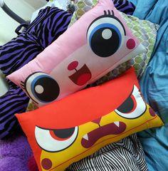 WANT!!!!!!!!!  UniKitty & Angry Kitty Doublesided LEGO movie by sappymoosetree, $22.00