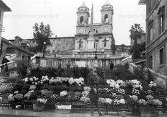 Foto storiche di Roma - Piazza di Spagna - Trinità de' Monti