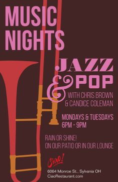 Come Join us at Ciao for Music Nights!