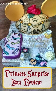 A new Disney themed subscription box!  This box is themed each month after a different princess. It will contain a variety of different items relating to that princess.  This month was Belle!