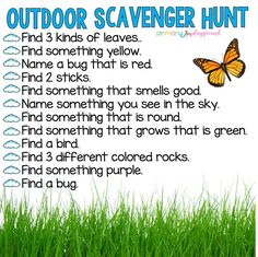 Scavenger Hunts - Primary Playground - With everyone staying at home and e-learning happening everywhere, I thought it would be fun to mak - Home Learning, Preschool Learning, Learning Activities, Outdoor Learning, Learning Quotes, Mobile Learning, Outdoor Play, Family Activities, Outdoor Cabana