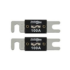 DEI 5 PCS ANL BLACK CHROME HEAVY DUTY TOP QUALITY 150 AMP CAR AMPLIFIER FUSES