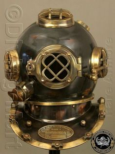 "Antique Scuba 18/"" Diving Helmet US Navy Mark V Vintage boys halloween costumes"