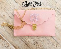 Light Pink Scalloped Monogram Clutch Purse!! by PoppyPine on Etsy https://www.etsy.com/listing/231881380/light-pink-scalloped-monogram-clutch