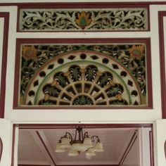 Palembang's style wood carving using as decoration inside the house.