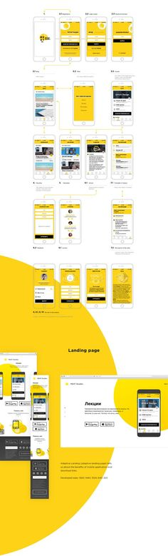 """Mobile application """"MEAT Studies"""". This is the simplification of communication of the design school and its students. All you need for a comfortable and productive learning is thought-out here.. If you're a user experience professional, listen to The UX Blog Podcast on iTunes."""