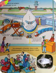 L'avion, Livre avec jouet à remonter, Publié en 2013 par les éditions Usborne