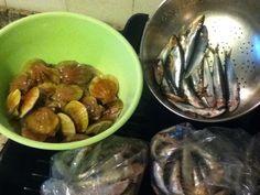 un po' di qua, un po' di la, oggi va cosi' .... #pesce #canestrelli #sardine del mare di #caorle #jesolo #venezia