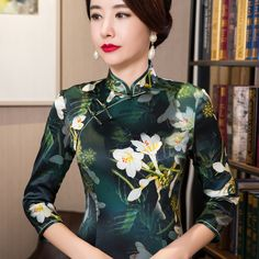 Cheongsam high collar cheongsam            https://www.ichinesedress.com/