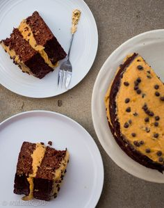 Healthy chocolate zucchini cake with cookie dough icing