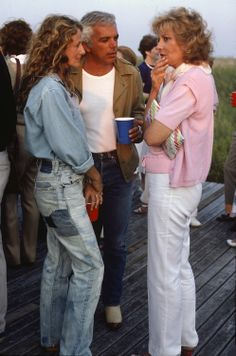 Ricky and Ralph Lauren chat with Barbara Walters in the Hamptons.