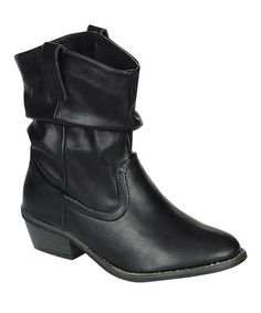 Take a look at this Breckelle's Black Dorado Scrunch Ankle Boot on zulily today!