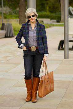 tartan plaid/style at a certain age