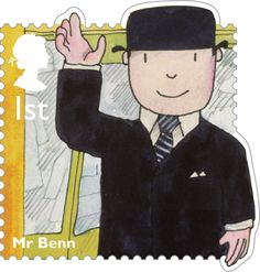 Royal Mail 1st Class Postage Stamp from 2014 featuring Classic Children's TV shows - Mr Benn
