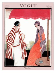 Vogue Cover Copyright 1922 Hot Weather Fashion - Our favorite Vintage Magazine Covers from 1891 to A timeline of cover personalities and historic events. Vogue Vintage, Vintage Vogue Covers, Fashion Vintage, Victorian Fashion, Art Deco Illustration, Fashion Illustration Vintage, Poster Vintage, Vintage Art, Art Quotidien