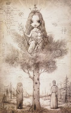Tree Of Life Drawing by Mark Ryden, 2006