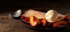 Griddled nectarine gluten free dessert | Newburn Bakehouse