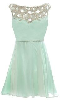 Mint bridesmaids dress,Anna this would be beautiful with lavender and yellow accent flowers!