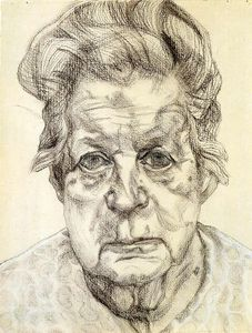 """""""Paper (19)"""" by Lucian Freud (1922-2011, Germany)"""