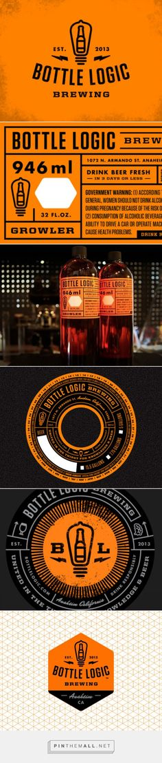 Bottle Logic Brewery branding  - Grits + Grids - created via https://pinthemall.net
